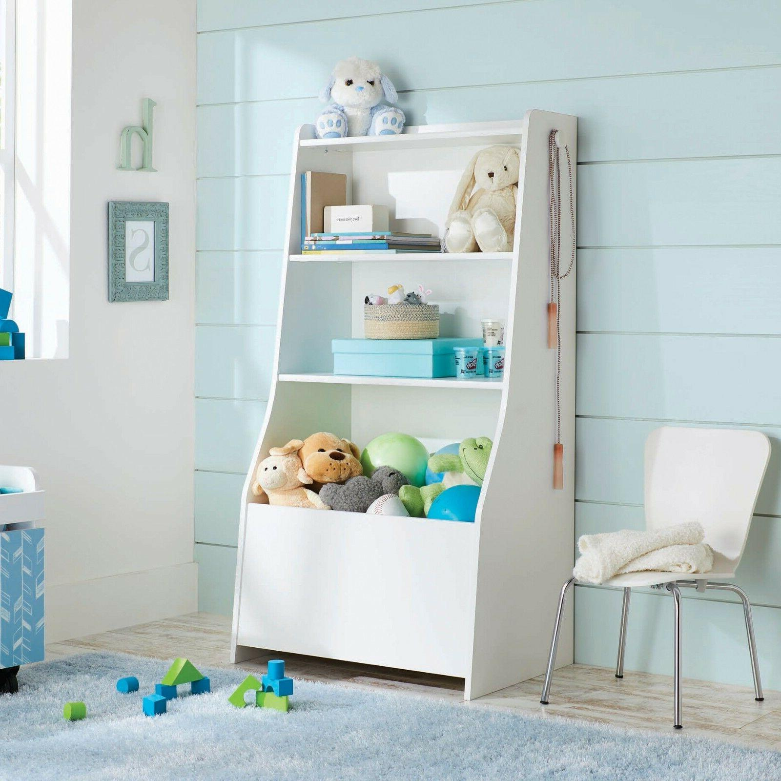 Kids Bookcase Book Storage Shelf Rack Organizer Bookshelf St