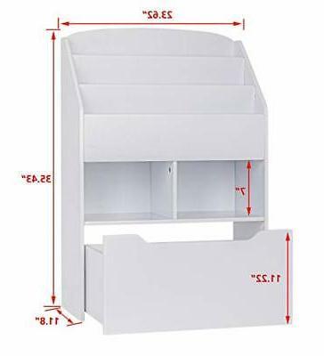 UTEX Bookshelf Toy Book Organizer Bookcase