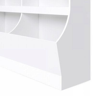 Kids Wooden Storage Cabinet for Toys 2 Cubbies Duarble