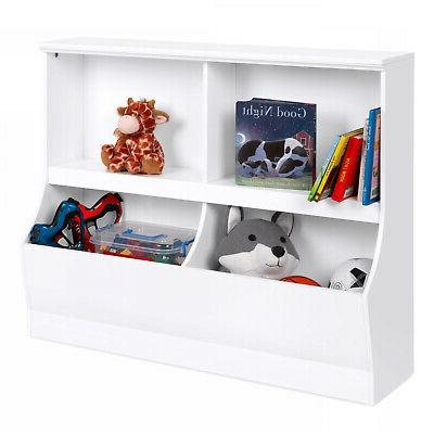 kids wooden storage cabinet for toys books