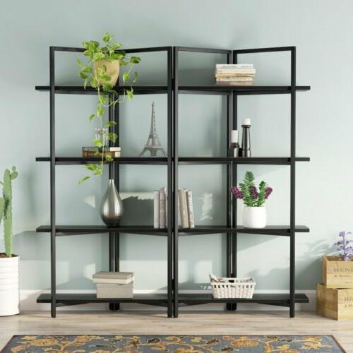 4 Bookshelf Shelves Bookcase Metal