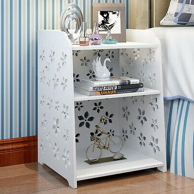 M Flower Bedroom Table Night Stand Wood
