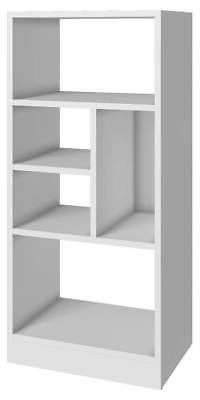 Modern Mid-Low Bookcase in White