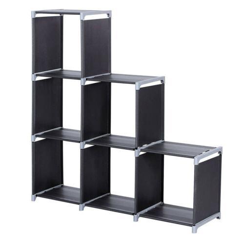 Storage Organizer Closet 6 Cubes Bookcase Waterproof Home