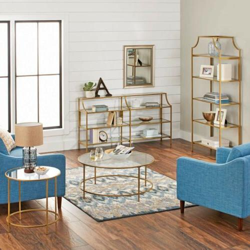 Better Homes & Nola Console Table, Gold Finish