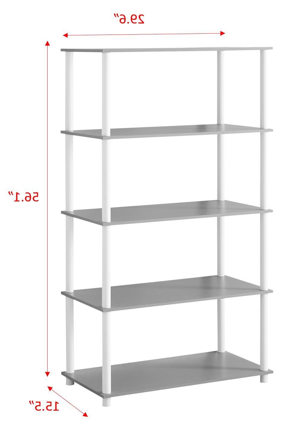 Open Display Shelves Simple Standard Storage No