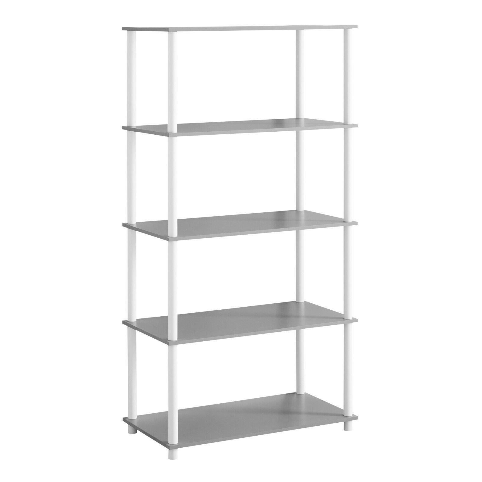 open display shelves 5 shelf simple standard