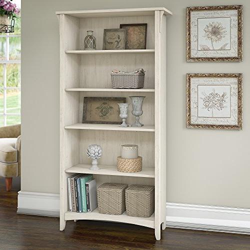 Bush Salinas Shelf Bookcase White