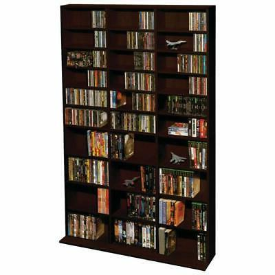 SHELF MEDIA STORAGE RACK DVD CD Cabinet Tower Stand Bookcase