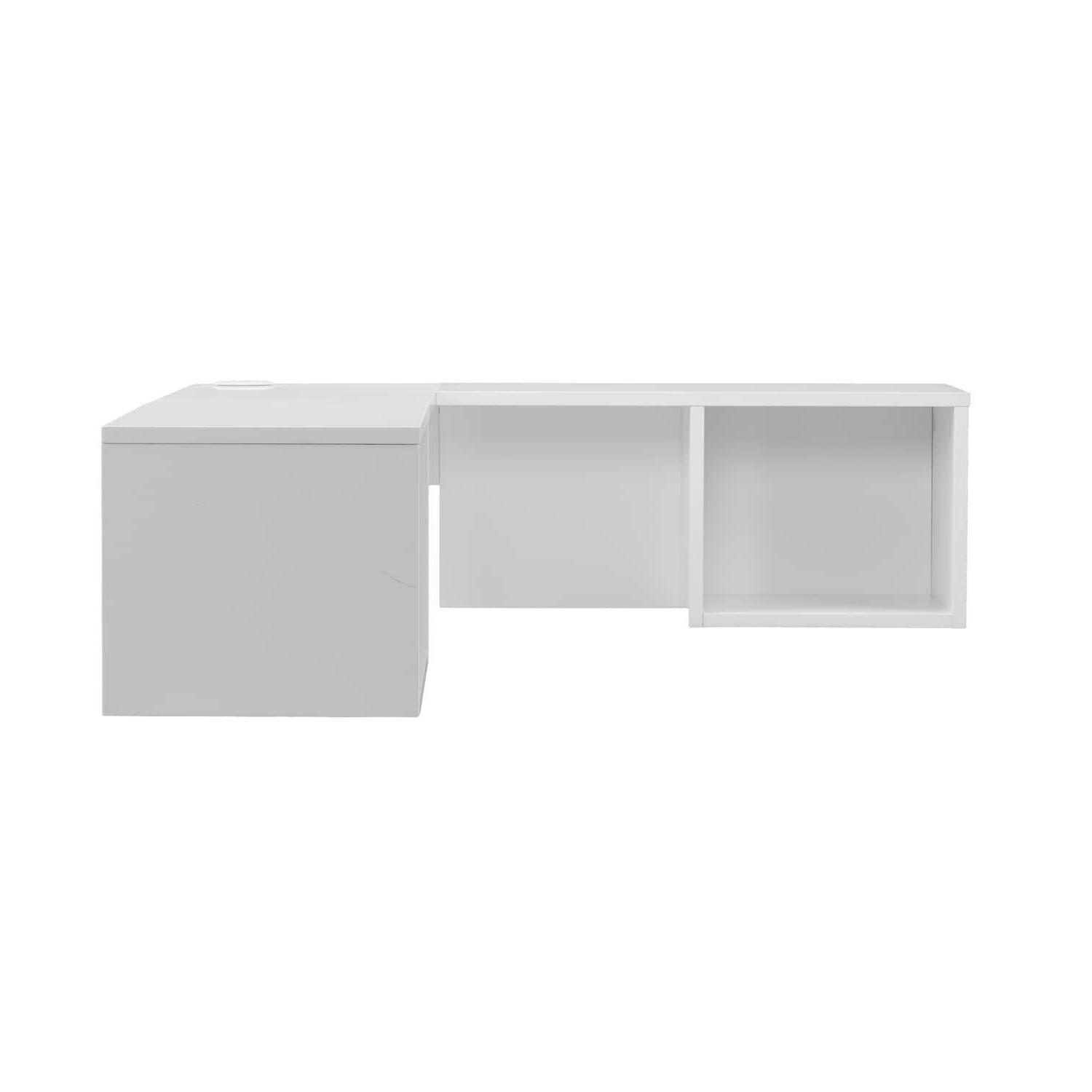 Small Wall Mount Floating Bookcase Desk