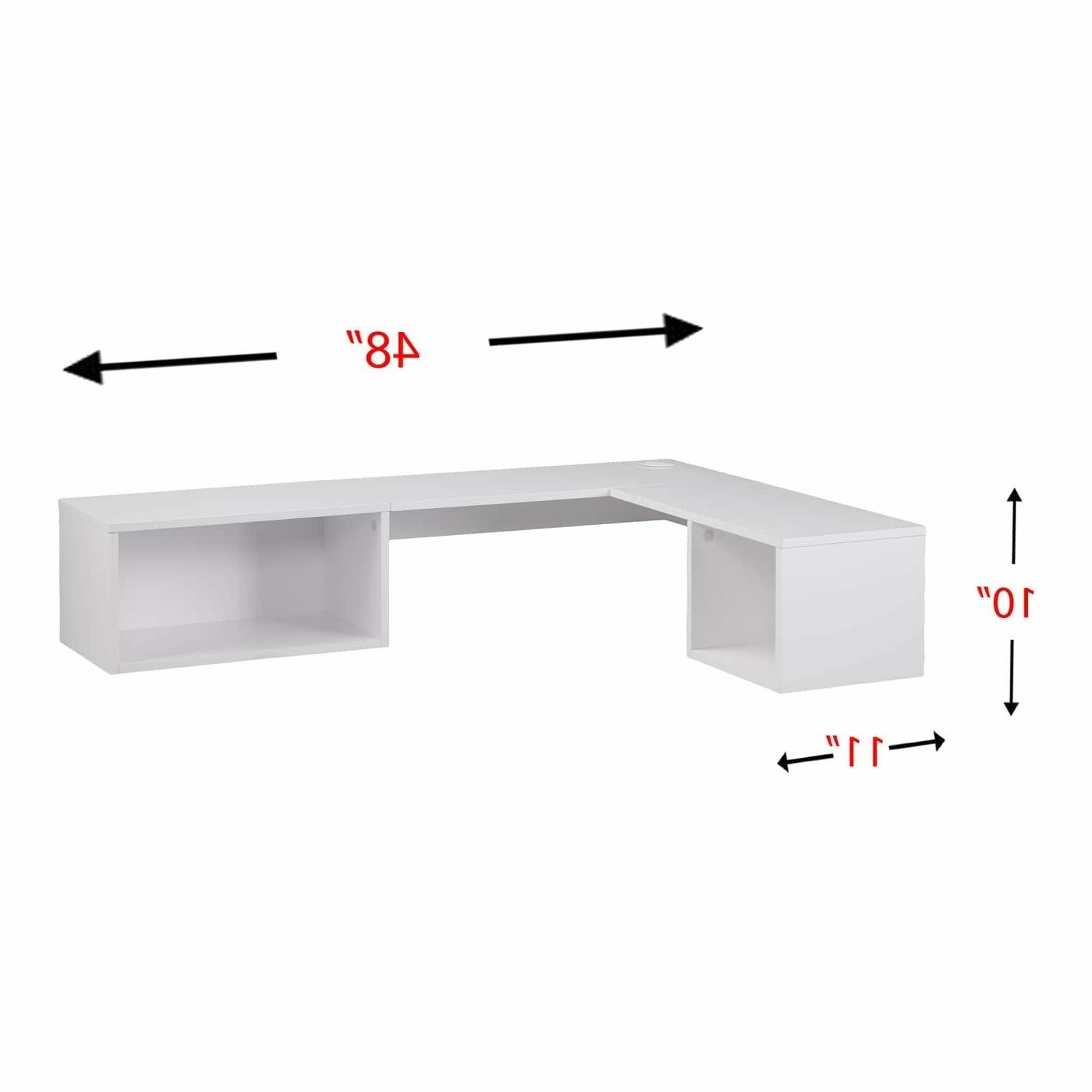 Small Mount Floating Bookcase Desk