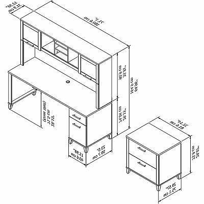 Bush Furniture Office and 5 Shelf in