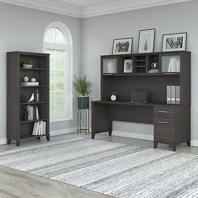 somerset 72w office desk with hutch