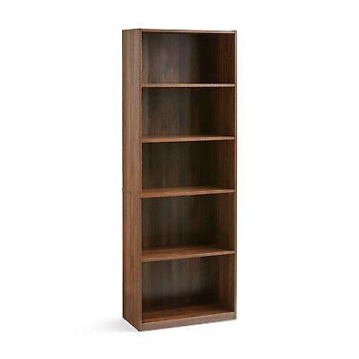 Closed Adjustable Wood Bookshelf