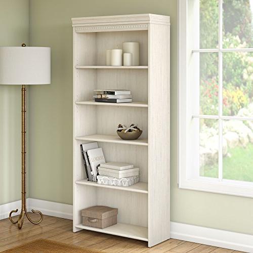 Bush Shelf Bookcase Antique White
