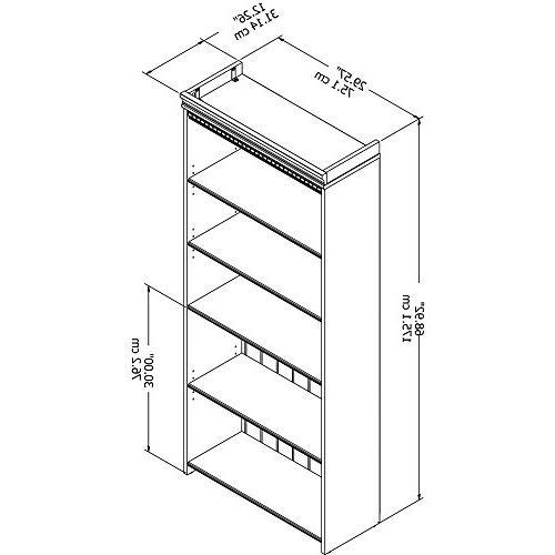 Bush Shelf Bookcase in White
