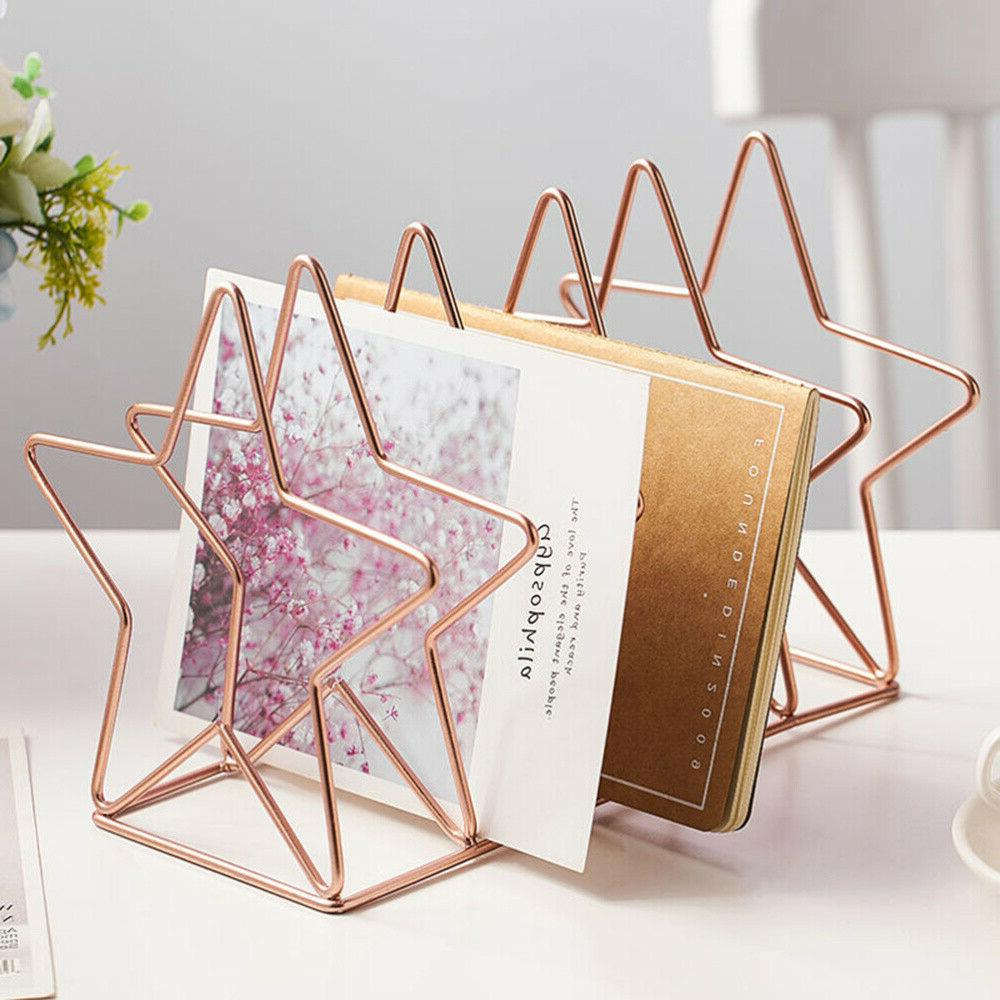 Desktop Star Shape Iron Art Bookstand Supply File