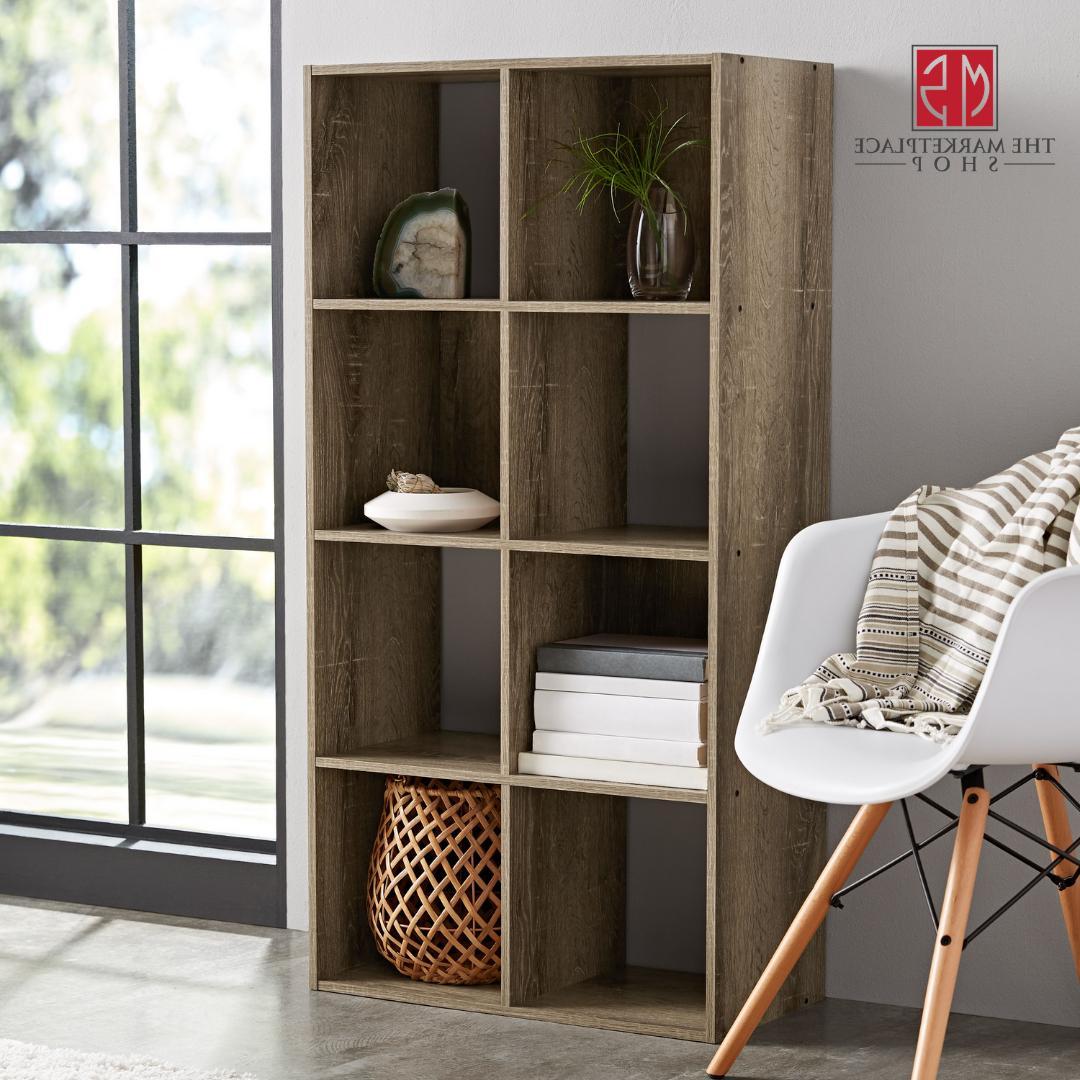 Storage Organizer Cube Bookshelf Rustic