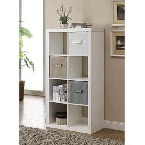 Storage Organizer Cube Horizontal Vertical Stylish White Finish