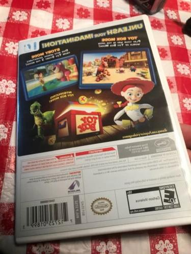 Toy Story Nintendo Wii Poster Book Case Game Excellent