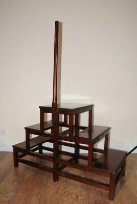 Victorian Steps Ladder Mahogany Case