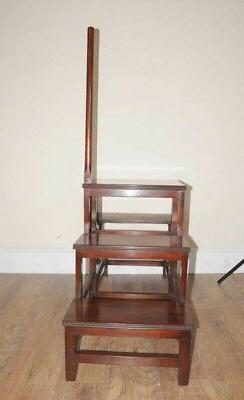 Victorian Library Steps Ladder Mahogany