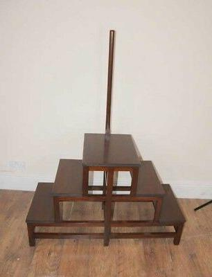 victorian library steps ladder mahogany book case