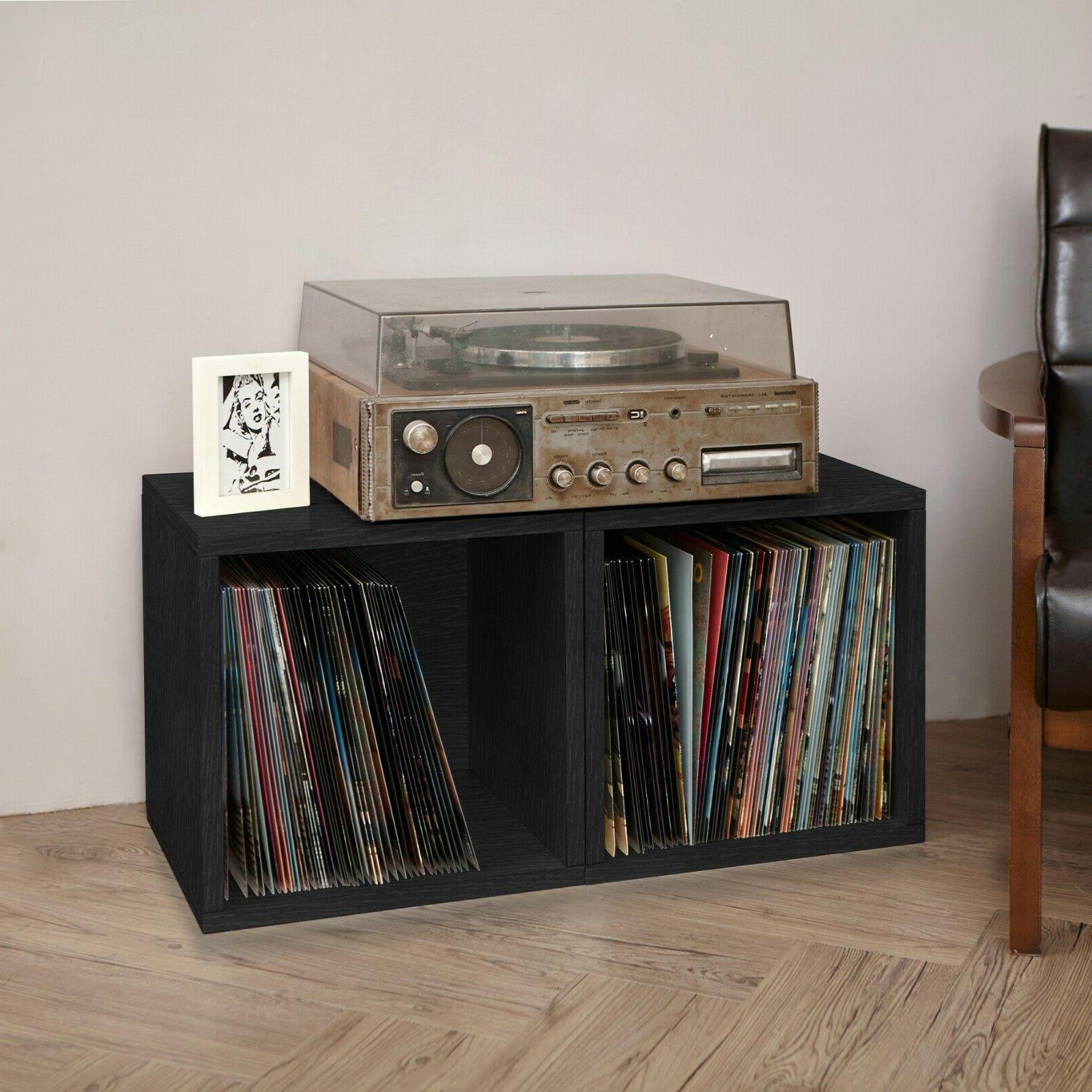Vinyl Record LP Album Storage Cube Bookcase FREE SHIP