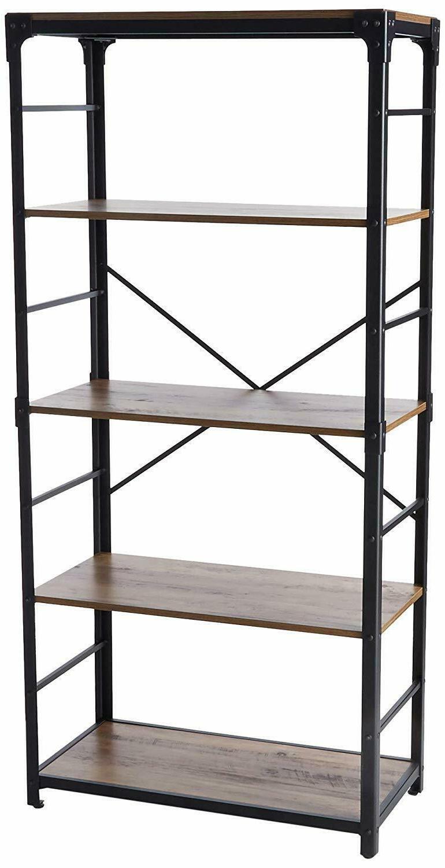 Walker Shelf and Metal Bookshelf