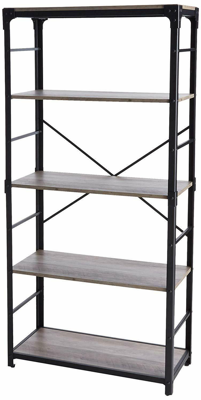 walker edison 64 4 shelf angle iron