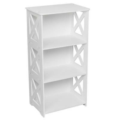 White Display Rack Bookcase Shelves