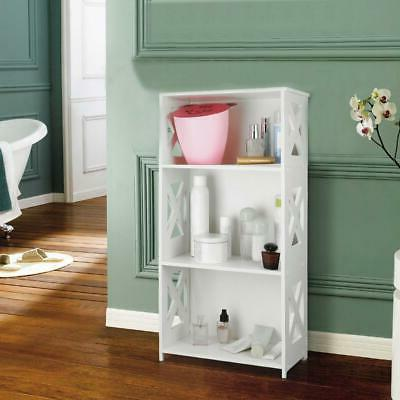 white 3 tier corner shelf display rack