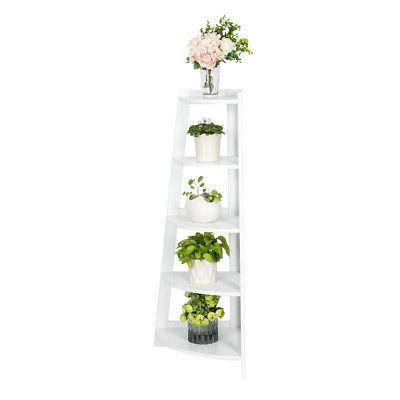 White Corner Shelf 5 Tier Furniture