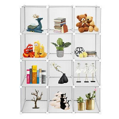White Bookshelving 4 Tiers Organizing HE