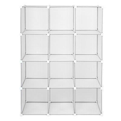White Open 4 12Cube Organizing Closet