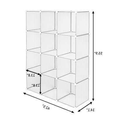White Open 4 12Cube Home Organizing