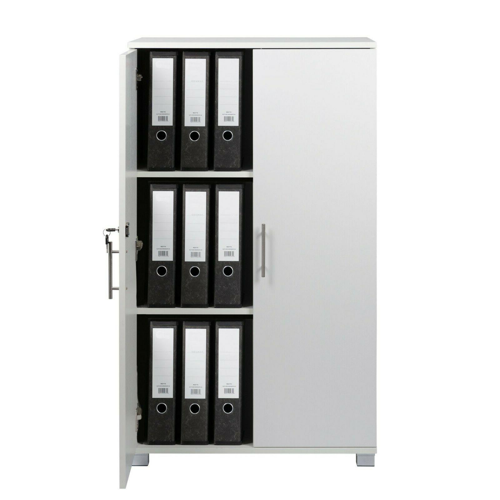 "White Cabinet 2 Door Pantry 48"""