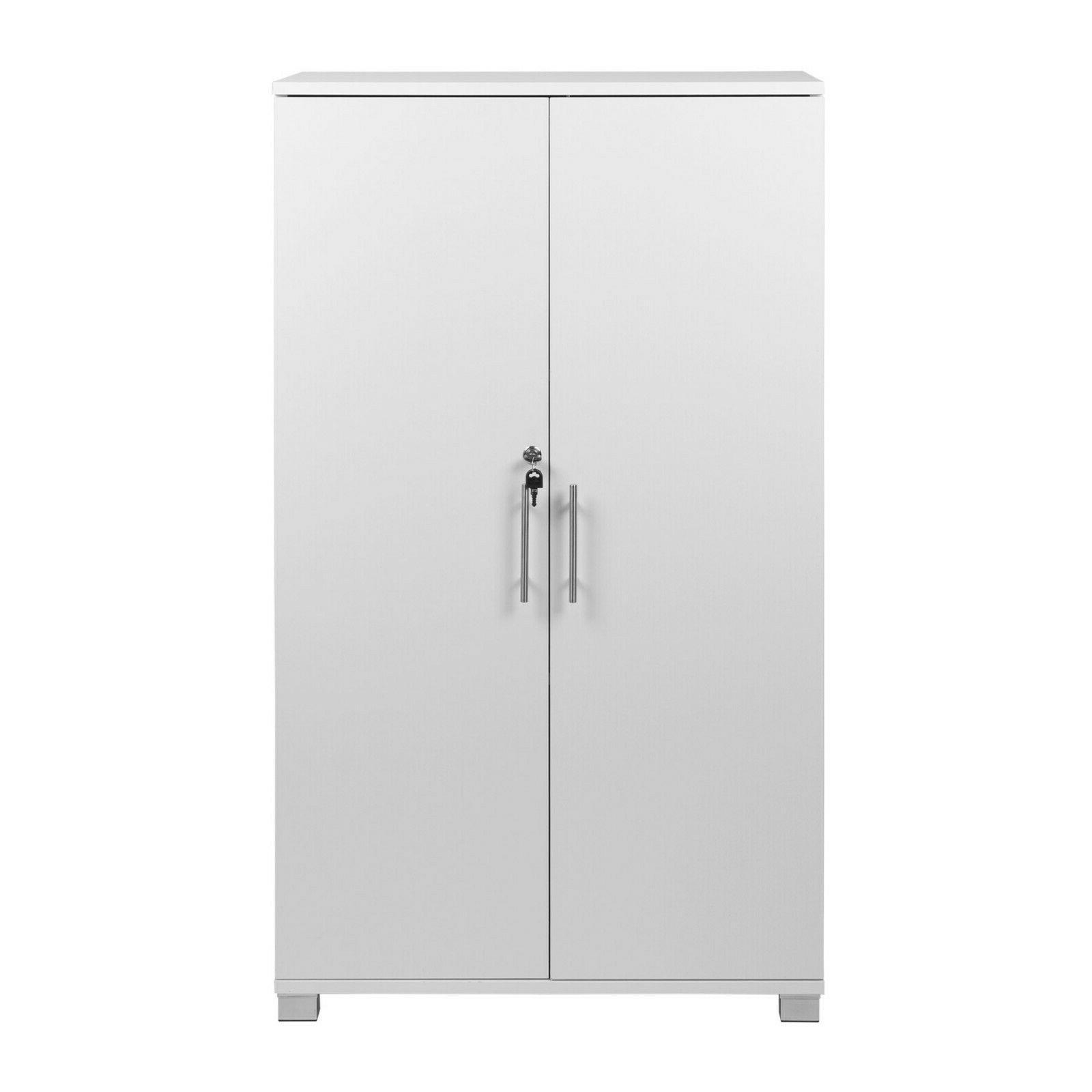 White Cabinet 2 Door Pantry
