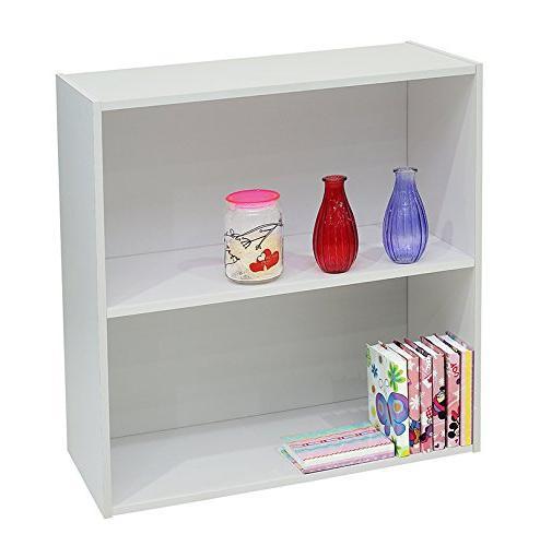 white wood 2 tier shelf
