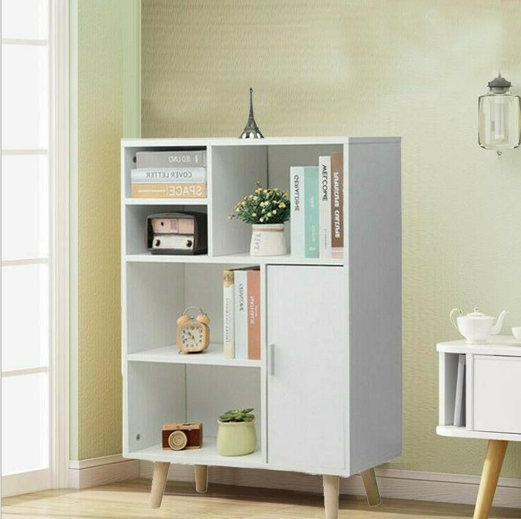 wood 3 tier bookcase book shelves cabinets