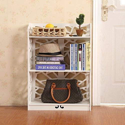 D-line and Plastic Bookcase Shelf, White,
