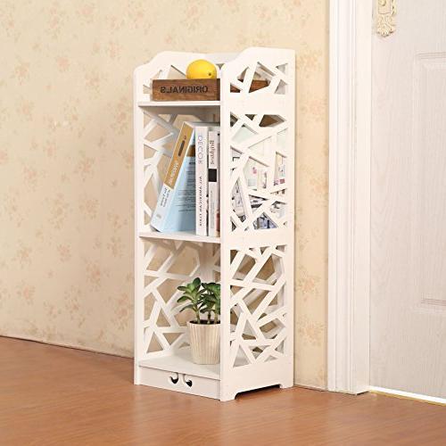 D-line Bookcase Storage Shelf, White,
