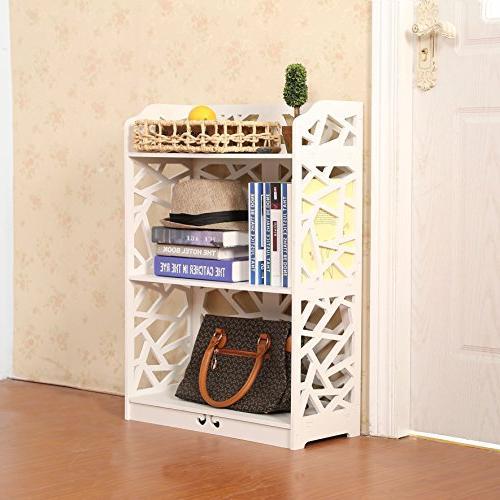 D-line and Plastic Bookcase Bookshelf White,