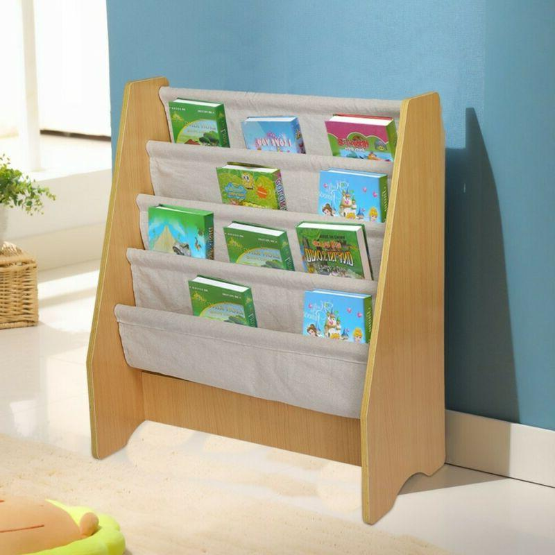 Wooden Sling Toy Picture Book Rack Child US
