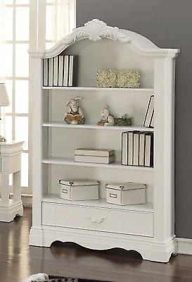 yuna kids classic youth bookcase with crown