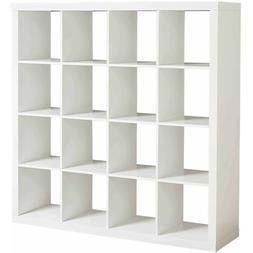 Large 16 Cube Bookcase Bookshelf Storage Shelves Organizer R