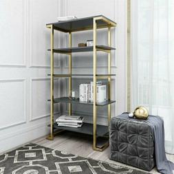 Large 5 Tier Etagere Bookcase Bookshelf Display Shelving Met