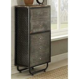 4D Concepts Locker Metal 2 Shelf Bookcase in Black/Gray with