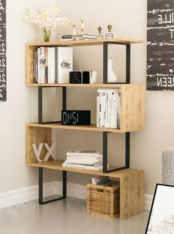 VHD - London 50' Tall 4-Shelf Geometric Bookcase
