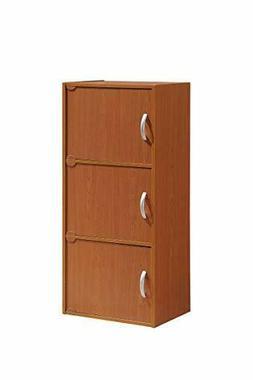 NEW! 3-Shelf Bookcase Cabinet, Storage Cherry FREE SHOPPING